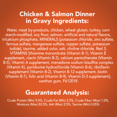 Friskies Gravy Wet Cat Food, Shreds Chicken & Salmon Dinner in Gravy