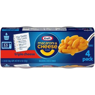 Kraft Triple Cheese Macaroni & Cheese Easy Microwavable Dinner