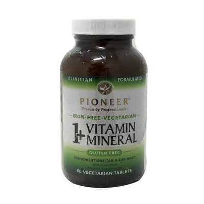 Pioneer 1+ Vitamin Mineral Iron Free Vegetarian Tablets