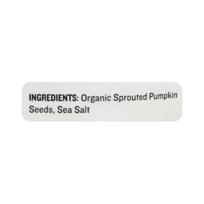 Go Raw Pumpkin Seeds, with Sea Salt, Organic, Sprouted