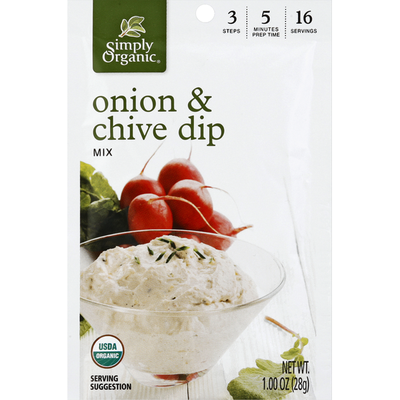 Simply Organic Dip Mix, Onion & Chive