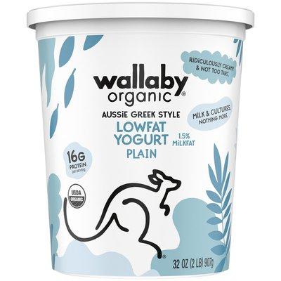 Wallaby Organic Organic Plain Greek Lowat Yogurt