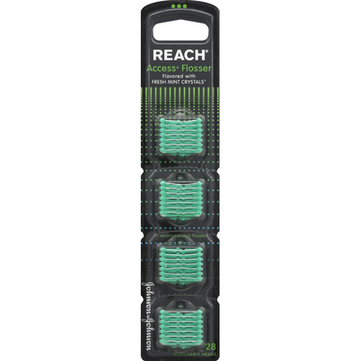 Reach Flosser Disposable Heads, Flavored with Fresh Mint Crystals