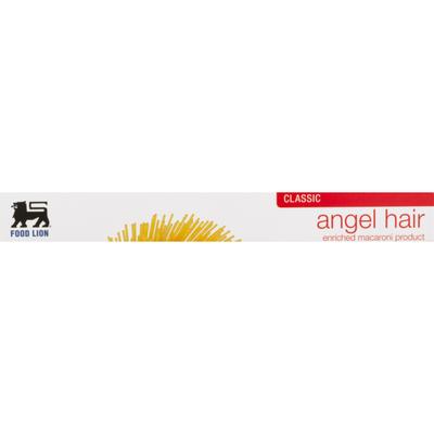 Food Lion Pasta, Angel Hair, Classic, Box
