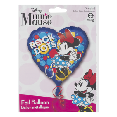 Anagram Standard Foil Balloon Disney Minnie Mouse Rock The Dots