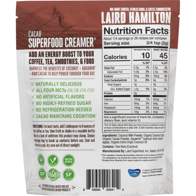 Laird Superfood Creamer, Superfood, Cacao