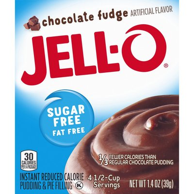 Jell-O Chocolate Fudge Sugar Free & Fat Free Instant Pudding & Pie Filling Mix