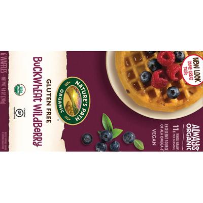 Nature's Path Organic Gluten Free & Wheat Free Buckwheat Wildberry Waffles