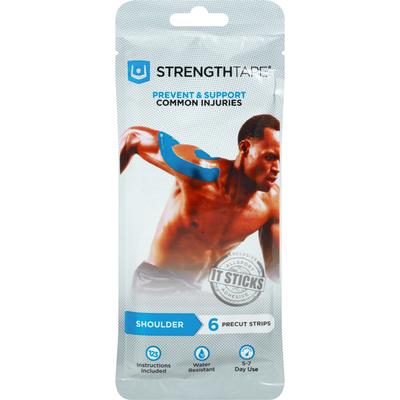 StrengthTape Kinesiology Tape, Shoulder, Precut Strips