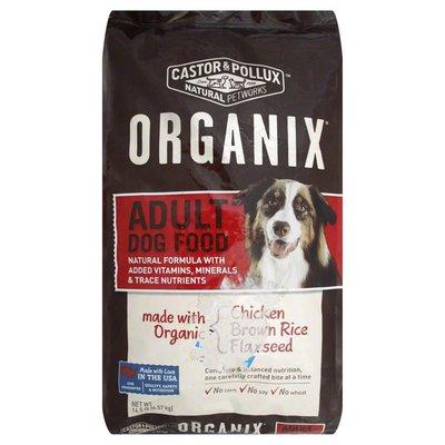 Organix Adult Dog Food, Chicken, Brown Rice, Flaxseed, Bag