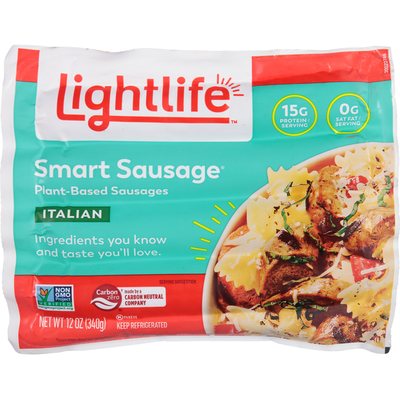 Lightlife Smart Sausages Veggie Protein Sausages, Italian Style