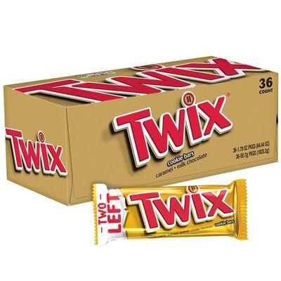 Twix Caramel Chocolate Cookie Candy Bars Single Size Box