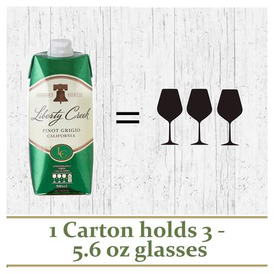 Liberty Creek Vineyards Pinot Grigio White Wine Tetra