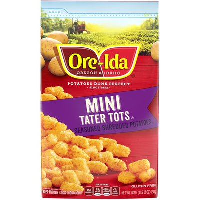 Ore-Ida Mini Tater Tots Seasoned Shredded Frozen Potatoes