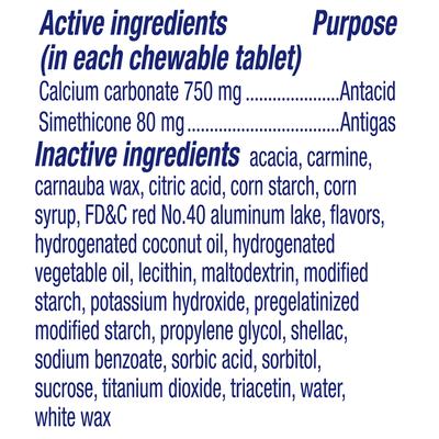 Alka-Seltzer Heartburn +Gas Reliefchews, Chewable Caplets, Tropical Punch