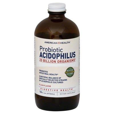 American Health Probiotic Acidophilus, Plain Flavor