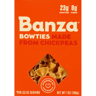 Banza Bowties, Made From Chickpeas