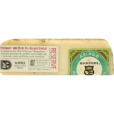 Sartori Rosemary and Olive Oil Asiago Reserve Cheese