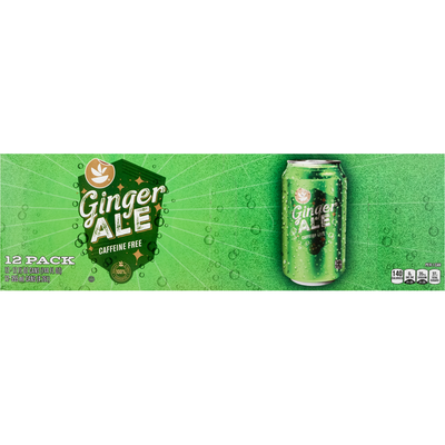 SB Ginger Ale, Caffeine Free, 12 Pack