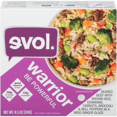 Evol Foods Warrior Beef with Rice Evol. Warrior Seared Beef Frozen Entree