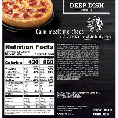 Red Baron Deep Dish Singles Pepperoni Pizzas