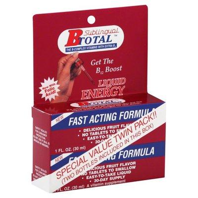 B Total Liquid Energy, B12 Boost, Twin Pack