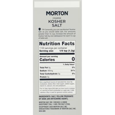Morton Coarse Kosher Salt  – For Everyday Cooking, Grilling, Brining, and as a Margarita Salt Rimmer, 3 LB Box