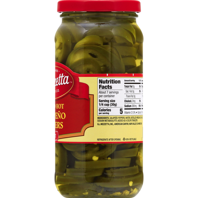 Mezzetta Jalapeno Peppers, Hot, Sliced