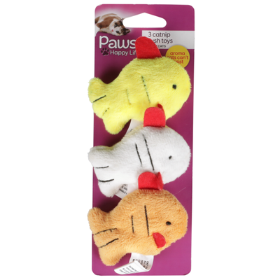 Paws Happy Life 3 Catnip Plush Toys For Cats