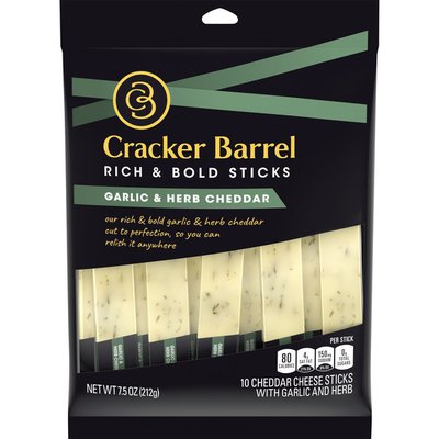 Cracker Barrel Garlic and Herb Cheddar Cheese Sticks