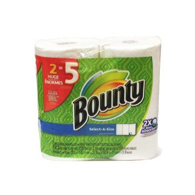 Bounty Paper Towels, Select-A-Size, Huge Rolls, White, 2-Ply