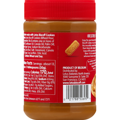 Lotus Biscoff Cookie Butter Spread, Creamy