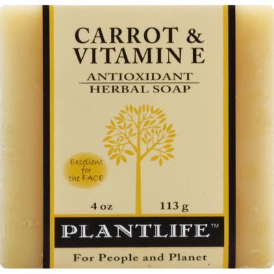 Plantlife Soap, Herbal, Antioxidant, Carrot & Vitamin E