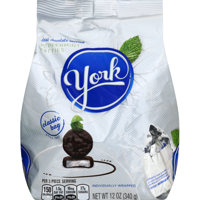 YORK Peppermint Patties, Dark Chocolate Covered, Classic Bag