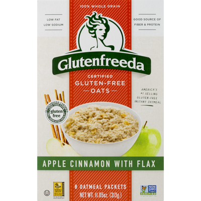 Glutenfreeda Oatmeal Packets Apple Cinnamon With Flax