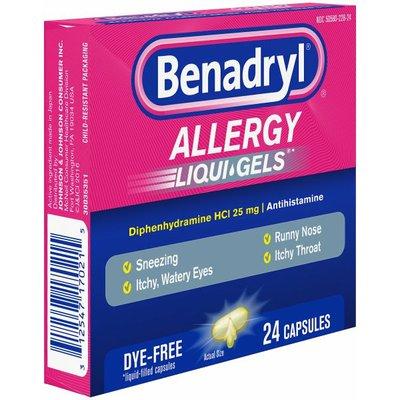 Benadryl Allergy Dye-Free Liqui-Gels