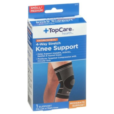 TopCare Antimicrobial 4-Way Stretch Moderate Knee Support, Small/Medium