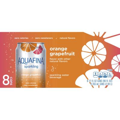 Aquafina Sprklng OrgGpfrt 12FlOz8Pk