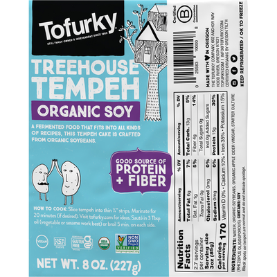 Tofurky Tempeh, Organic Soy, Treehouse