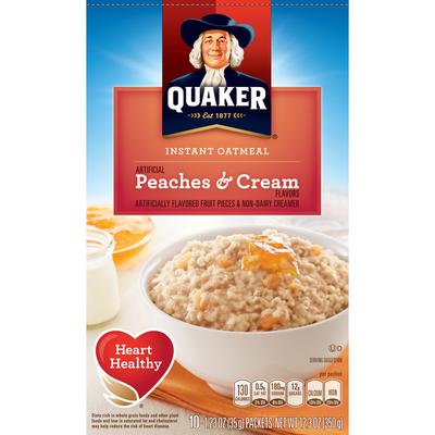 Quaker Instant Oatmeal, Peaches & Cream