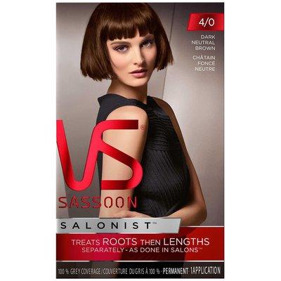 Vidal Sassoon Salonist Permanent 4/0 Dark Neutral Brown Hair Colour