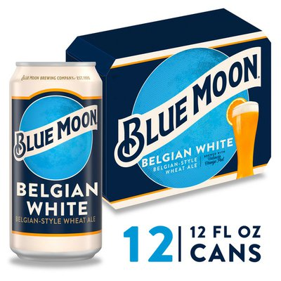 Blue Moon Belgian White Ale Can
