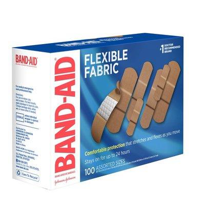 Band-Aid Brand Flexible Fabric Adhesive Bandages, Assorted Sizes