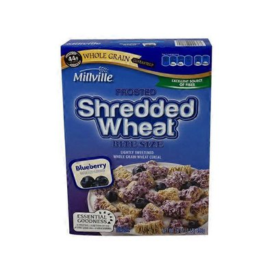 Millville Blueberry Frosted Shredded Wheat Breakfast Cereal