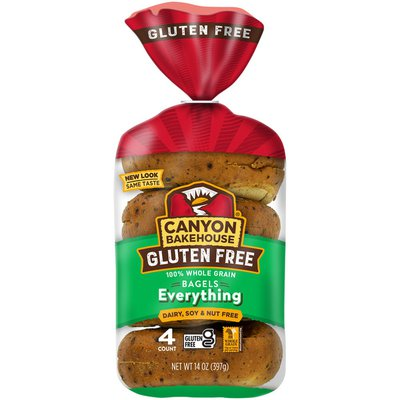 Canyon Bakehouse Gluten Free Everything 100% Whole Grain Bagels