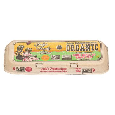 Judy's Family Farm Organic Brown Large Eggs
