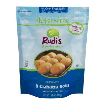 Rudi's Organic Bakery Gluten-Free Bakery Ciabatta Rolls - 8 CT