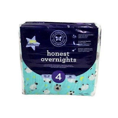 The Honest Company Size 4 Sleepy Sheep Overnight Diapers