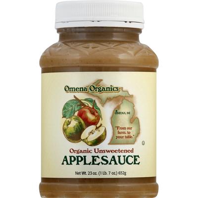 Omena Organics Applesauce, Organic, Unsweetened
