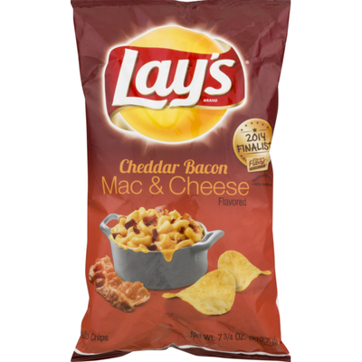 Lay's Cheddar Bacon Mac & Cheese Flavored Potato Chips
